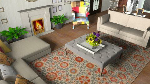 ici phase 5 block yellow text - Country - Living room  - by mehar