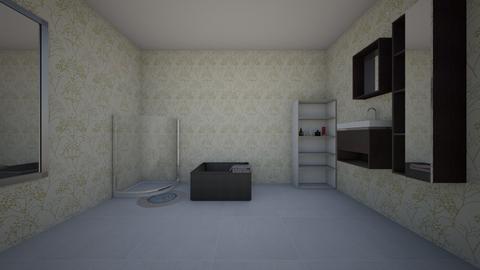 My Master Bathroom - Retro - Bathroom  - by valentena