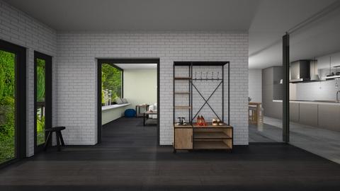 Hallway with rooms - by Noa Jones