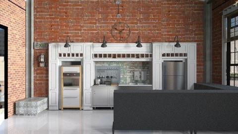 uptown kitchen - Retro - Kitchen  - by Shelley0514
