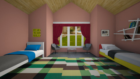 Twin Boy Bedroom  - Modern - Bedroom - by CeeCee_