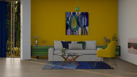 green_blue_yellow - Living room - by Sanja Pipercic