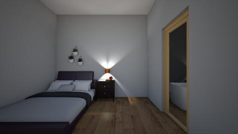 bedroom with bathroom - Modern - Bedroom  - by BTSfangirl