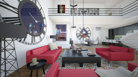 Time - Eclectic - Living room  - by liling