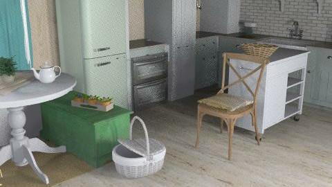 French kitchen_ - Country - Kitchen  - by Georgina Escobedo