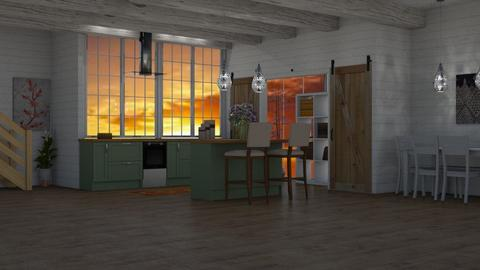 barn kitchen - Rustic - Kitchen  - by Wohooo