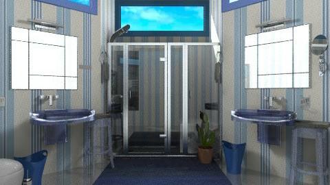 blue - Modern - Bathroom  - by annabeth