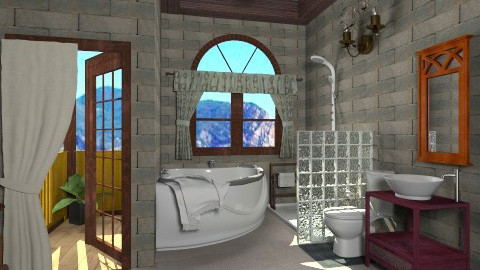 electic stone - Rustic - Bathroom  - by Veny Mully