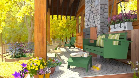 Porch - Rustic - Garden  - by Bibiche