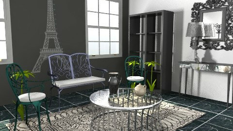 paris - Retro - Living room  - by livia87
