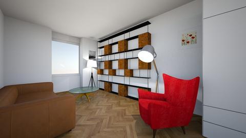 3 regaly salon rut z boku - Living room  - by beereeza