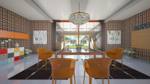 OOOrange - Retro - Dining room  - by Saj Trinaest
