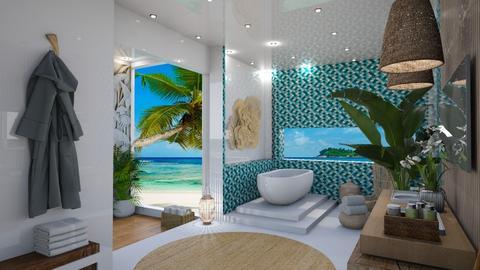 Coral Island Bathroom - by Fofinha