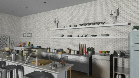 Industrial Retro Kitchen - Retro - Kitchen  - by 66861499hala