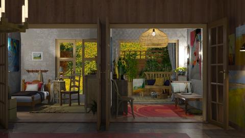 Van Gogh bedroom - Bedroom  - by nat mi