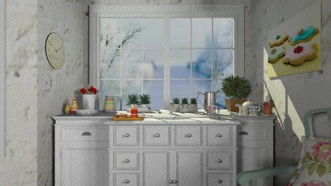 White kitchen3 - Vintage - Kitchen - by milyca8