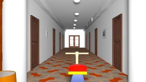 El Resplandor. pasillo - Retro - Hallway  - by ATELOIV87