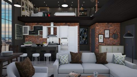 Industrial Loft - Modern - Living room  - by M i n h  T a m