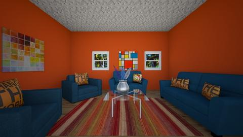 Orange and Blue Apartment - Modern - by 24coscarson