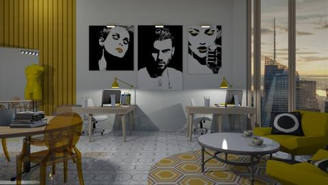 Yellow City Workspace  - Office  - by catjatkinson1