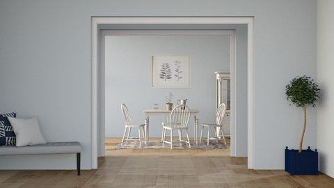 b l u e_ dining room - by Oyisha