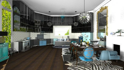 Modern Mix Kitchen - Eclectic - Kitchen - by pinkponytails19