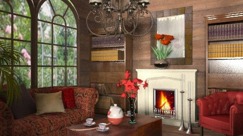old red - Classic - Living room - by chania