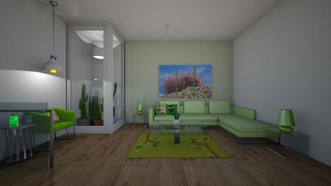 Mean green I - Modern - Living room  - by matildabeast