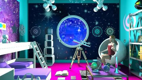 Girl in Space - Kids room  - by ninazara1234