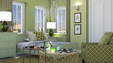 Green Hydrangea - Feminine - Bedroom  - by Claudia Correia