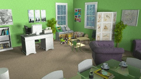 home office - Eclectic - Office  - by deleted_1550519236_sorroweenah