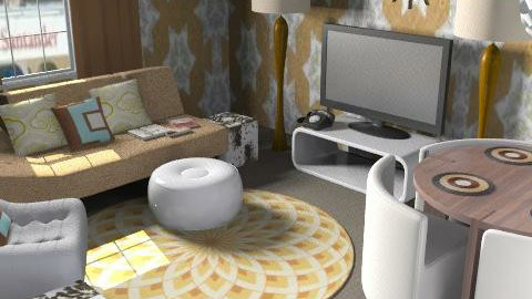Studio Flat in Retro - Retro - Living room  - by Dea Richardson
