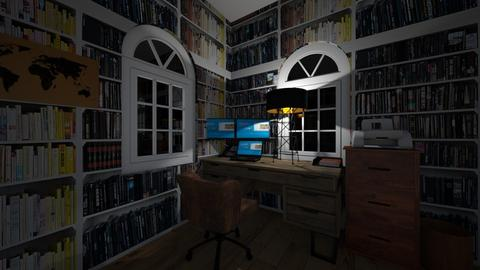 stormy night office  - Vintage - Office  - by RhodriSimpson13