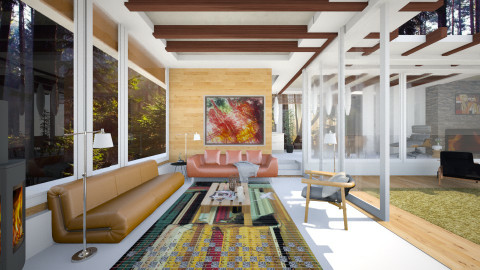 inspired house by neutra - Country - Living room  - by Evangeline_The_Unicorn