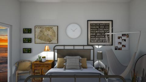 Boho chic master bed - by KierraClumdesign