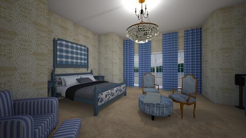 manor blue vintageGranny  - Vintage - Bedroom  - by jade1111