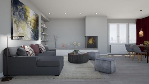 Grey Steel - Minimal - Living room  - by Claudia Correia
