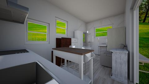 Tiny house pool house 8 - Kitchen  - by joannaowen