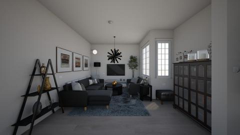 HOUSE 4 cream black teal - Modern - Living room  - by ritapireva