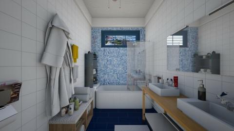 in santorini - Bathroom  - by Conchy