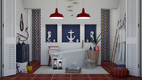 Nautical Bathroom - Classic - Bathroom  - by Roquette