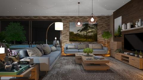 M_Summer evening - Living room  - by milyca8