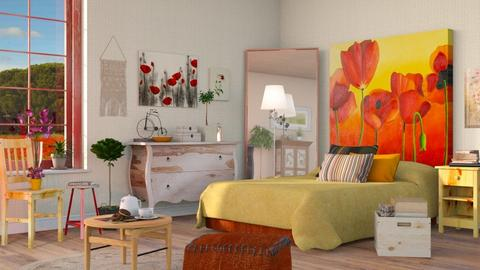 Poppy Bedroom - Vintage - Bedroom - by Sally Simpson