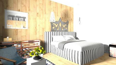 חדר שינה מודרני השראה - by jasminh2000
