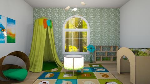 Green Kids Room - Kids room  - by Intricate