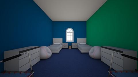 blue kids room - by sadiepuppy1