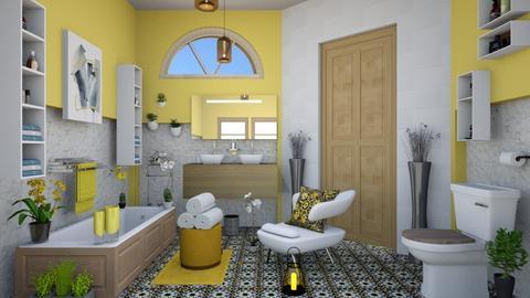 all yellow  - Modern - Bathroom  - by zayneb_17