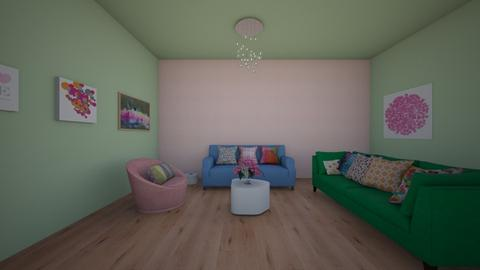 candy inspired - Living room - by Katarina1999
