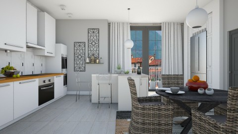 Grey Steel And Wicker - Modern - Kitchen  - by janip