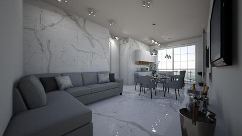 apartamento SeK  - Vintage - Living room - by kelly lucena